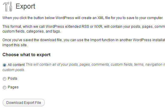 Export Your Site