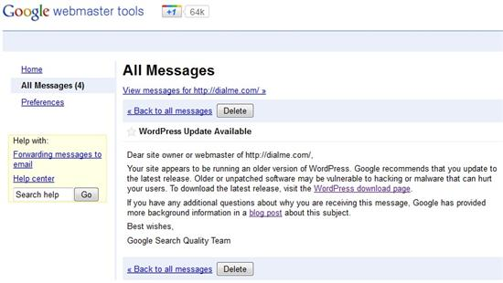 Google WordPress Update