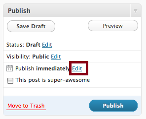 Wordpress Edit Publish Immediately