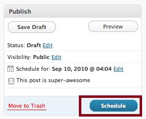 Wordpress Schedule Post