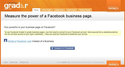 Facebook Business Grader