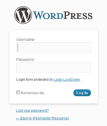 Wordpress Login Logo