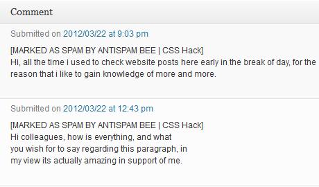 Wordpress Spam Marked by Antispam Bee