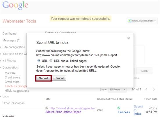 WMT Submit URL