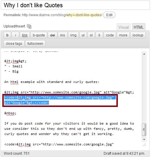 Wordpress html editor 2