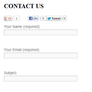 Contact Social Buttons