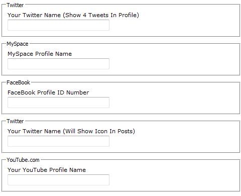 Add Social Profile