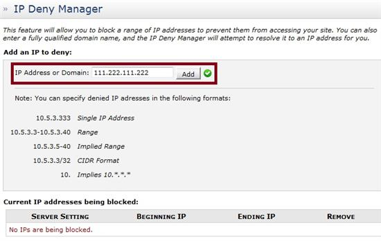 IP Deny Manager Add IP