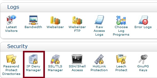 Ip Deny Manager cPanel