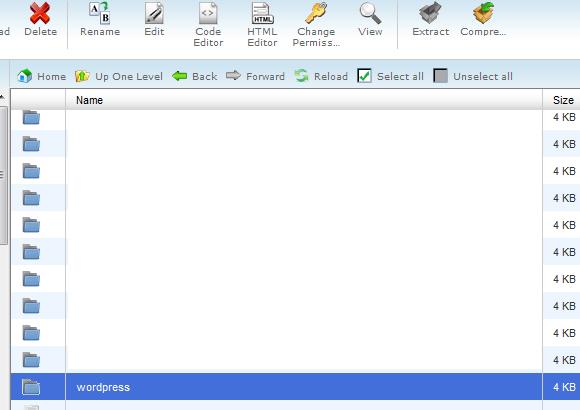 Double Click WordPress Folder