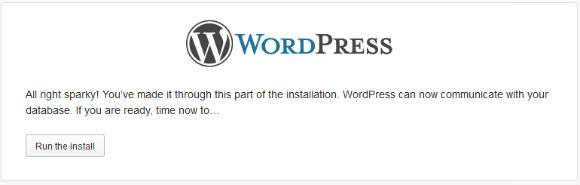WordPress Installer Step 4