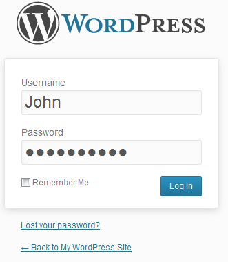 Step12 WordPress Installer Log In
