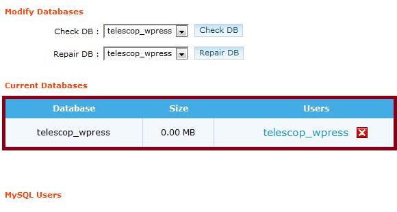 Complete Database Details