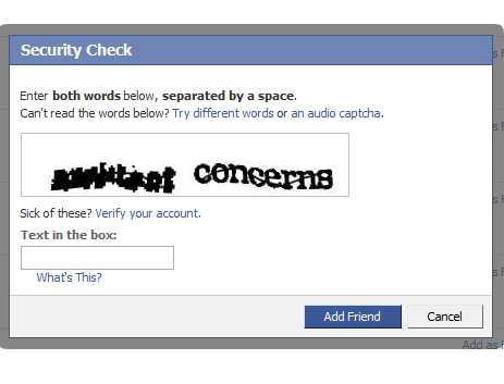 Hard to read captcha