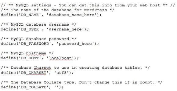 Step3 wp-config Database Details