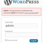 Forgot WordPress Password