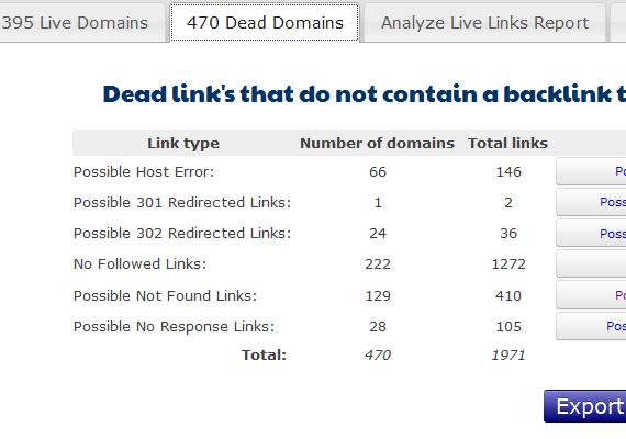 Disavow Backlink Analyzer