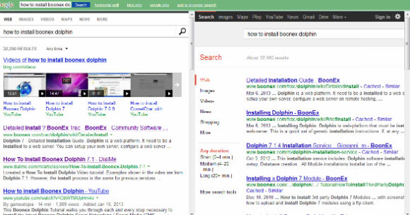 Bing vs. Google Results