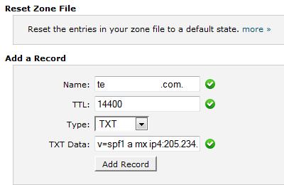 Add TXT Record