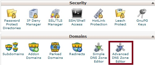 cPanel Advanced Editor