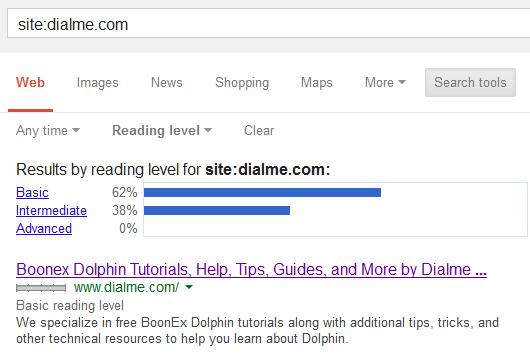 Dialme Reading Level