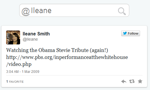 Ileane Smith First Tweet