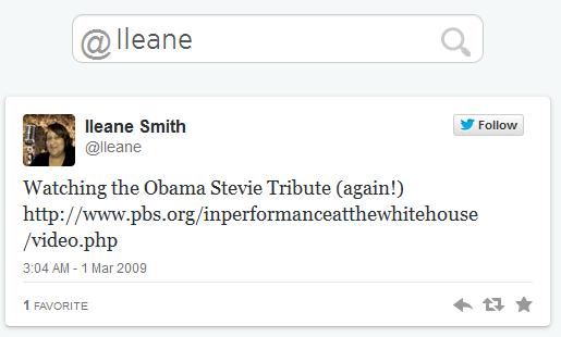 Ileane Smith First Tweet