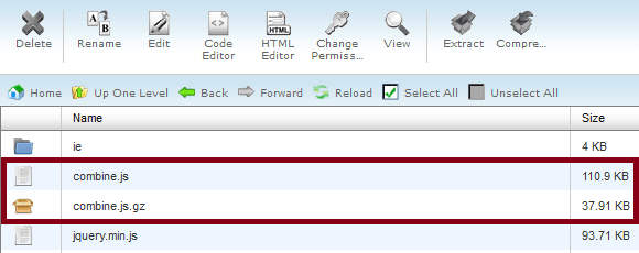 compressed js file