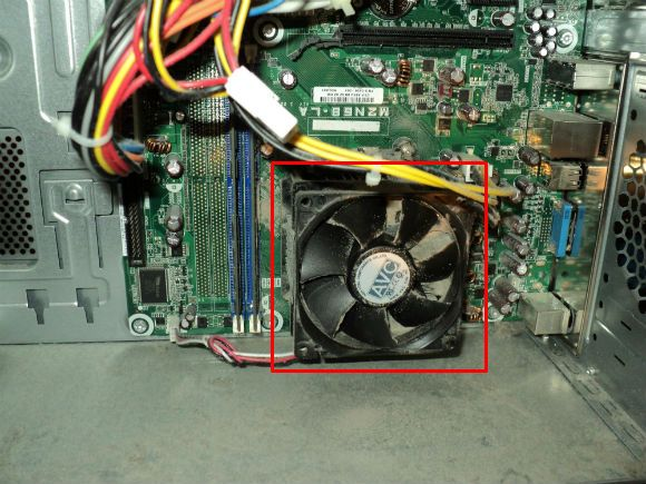 CPU Fan and Heatsink area