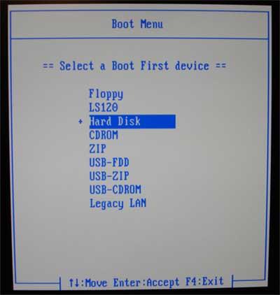No USB-HDD Option In Bios