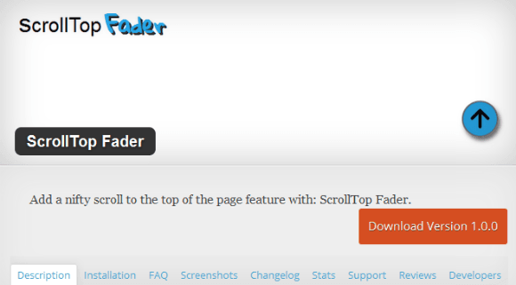 Scrolltop Fader WordPress Repository