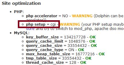 PHP Setup cgi
