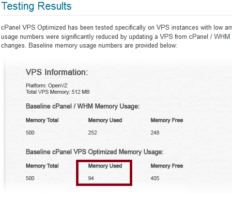 Cpanel VPS Optimized
