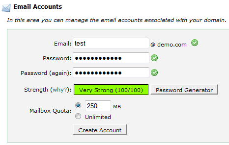 Cpanel Create Email Address