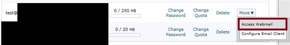 Cpanel Access Webmail