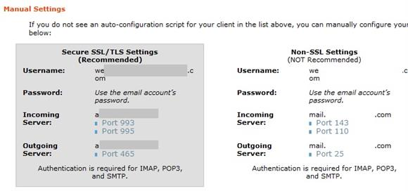 cPanel SMTP Settings