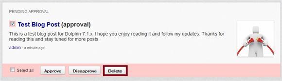 Delete Blog Post