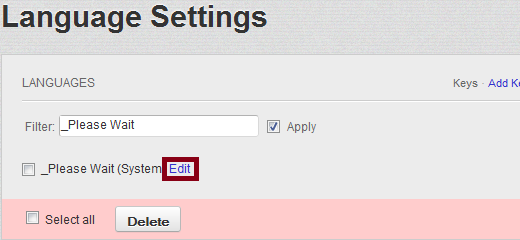 Please Wait Language Settings