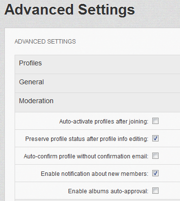 Dolphin 7.1 Moderation Settings