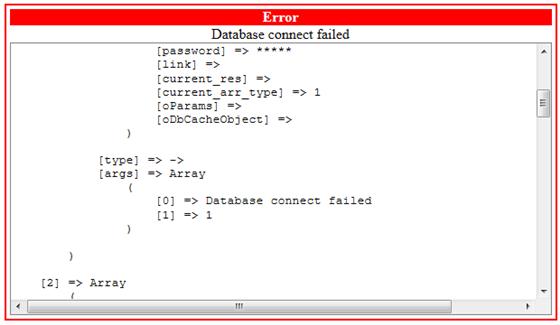 Dolphin Database Connect Failed