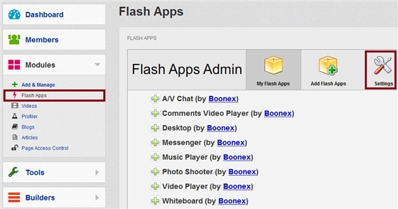 Modules Flash Apps