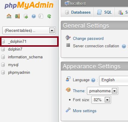 Dolphin 7.1 Database