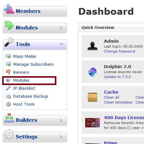 Dolphin 7 Admin Tools Modules