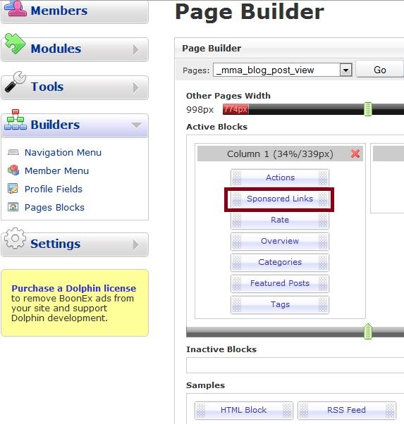 HTML Block Sponsored Links