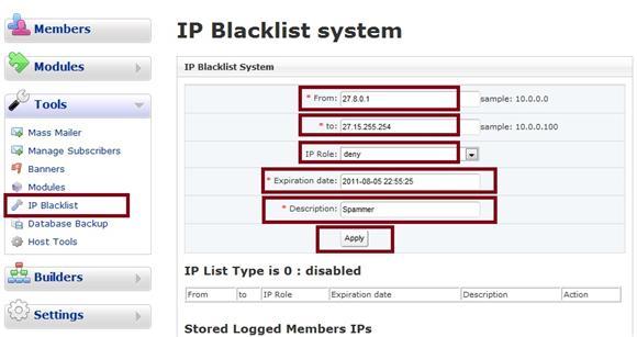 Dolphin 7 IP Blacklist
