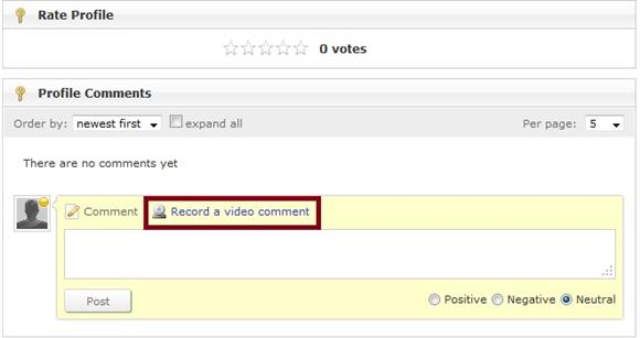 Record a video comment original