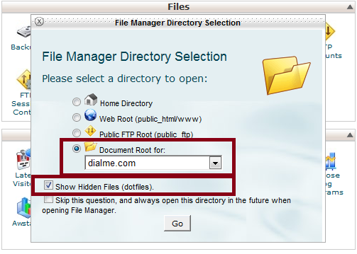 Select Directory or Domain