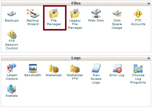 Select Cpanel File Manager
