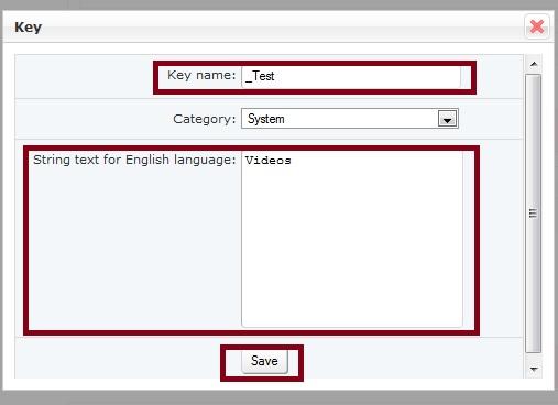 Add Language Key Details