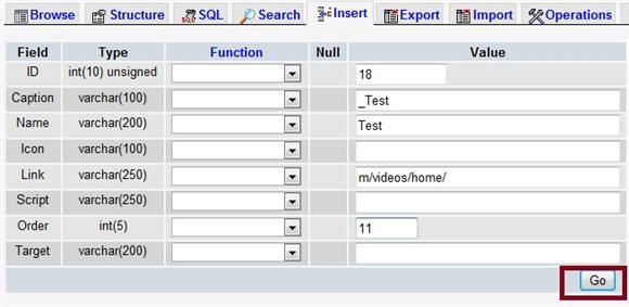 Enter New sys_menu_bottom Field Info